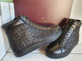 Aigner Zapatillas altas negro-color oro