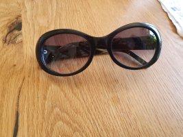 Aigner Gafas de sol ovaladas negro-marrón tejido mezclado
