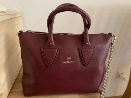 Aigner Shoulder Bag purple leather