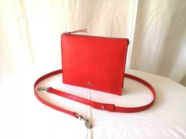 Aigner Handbag red-silver-colored leather