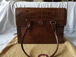 Aigner Briefcase brown leather