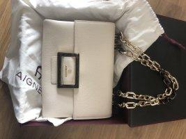 Aigner Vicenza M Tasche antique white weiß creme Neu