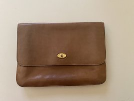 Aigner Clutch light brown leather