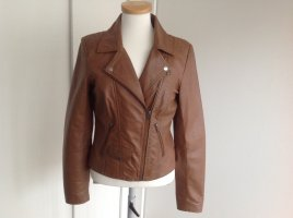 Aim Leather Jacket brown-cognac-coloured leather