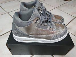 Air Jordan Basket à lacet argenté