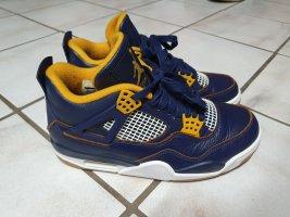 Air Jordan Basket à lacet orange-bleu
