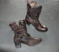 Airstep Zipper Booties brown leather