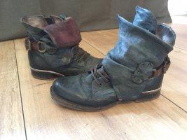 Air Step Botas de tobillo azul oscuro