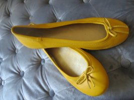 Akira Slingback Ballerinas yellow leather