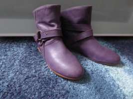 Akira Chelsea Boot bleu violet cuir