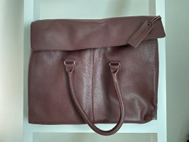 Zign Laptop bag bordeaux-blackberry-red leather