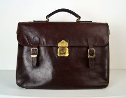 Claudio Ferrici College Bag brown red leather