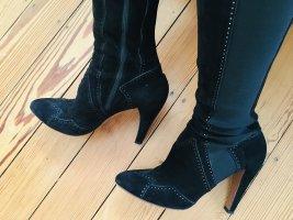 Alaïa Wysokie buty na obcasie czarny Skóra