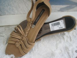 Alberto Fermani Comfort Sandals light brown-grey brown leather