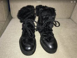 Aldo Boots Winterschuhe 37 Lammfell gefüttert schwarz