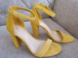 Aldo sandalen gr. 38 gelb neu sandaletten riemchensandalen