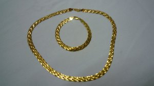 Collier Necklace gold-colored real silver