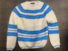 Alexa Chung Crewneck Sweater white-neon blue