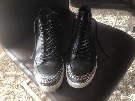 Alexander McQueen Sznurowane buty czarny