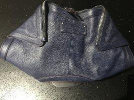 Alexander McQueen Borsa clutch blu Pelle