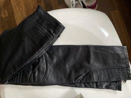 Alexander McQueen Pantalone in pelle nero