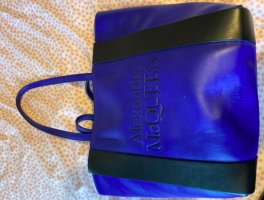 Alexander McQueen Tote blue leather