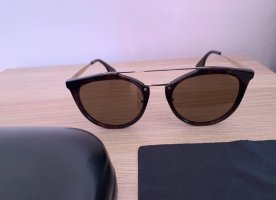 Alexander McQueen Oval Sunglasses black brown-black
