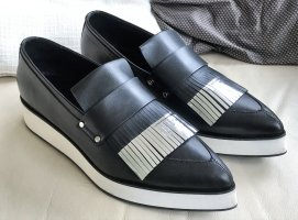 Alexander McQueen Slip-on Shoes black-silver-colored leather