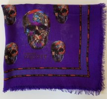 Alexander McQueen Stole lilac-black silk