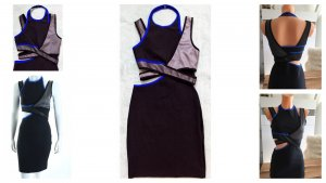 Alexander Wang for H&M Vestido cut out negro-azul