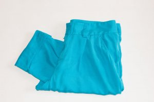 Peg Top Trousers cornflower blue silk
