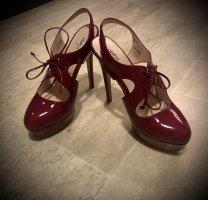 Alisha Talons hauts violet-brun pourpre