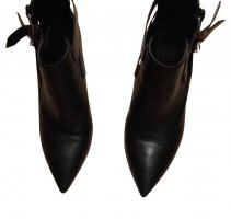All Saints Cut Out Booties black leather