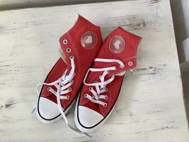 All Star Lace-Up Sneaker dark red-white linen