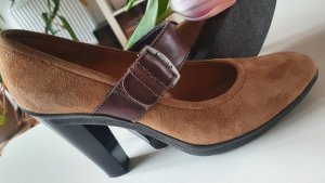 Tommy Hilfiger Mary Jane Pumps light brown-cognac-coloured leather