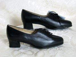 Escarpins à lacets noir cuir