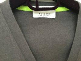 Allude Sweter z dzianiny szary-zielona łąka