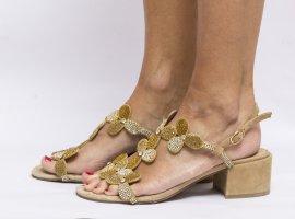 Alma en Pena Sandalias de tiras beige-beige claro Cuero