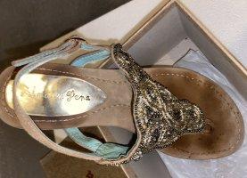 Almaer Pera - Boutique-Schuh aus Leder mit Perlen - Sommerschuh - Lederschuh - Sandale - Flipflop