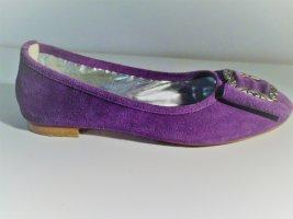 Almenrausch Ballerines violet cuir