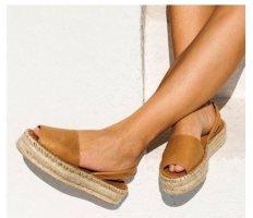 Alohas Comfortabele sandalen cognac