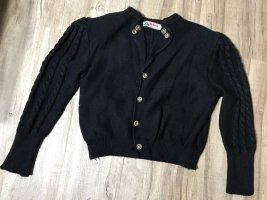 Alphorn Veste bavaroise noir laine