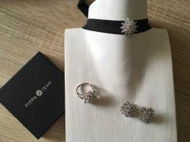 Pippa & Jean Statement ketting zilver-zwart