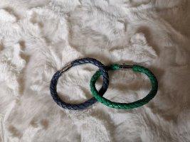 """Alraune """"Juno"""" Armband aus Leder - blau und grün"""