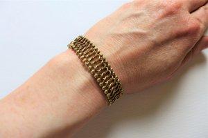 Alt antik vintage Amerikaner Glieder Armband gold 60er 60s
