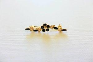 Vintage Brooch black-gold-colored