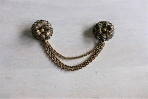 Vintage Brooch bronze-colored-gold-colored