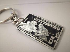 Sleutelhanger zilver-zwart