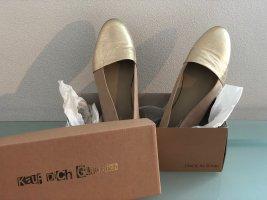 Altrosa-goldfarbene Ballerinas von Kauf Dich Glücklich in Gr. 40