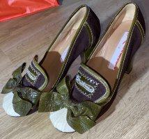 Amaterrasu Chaussure à talons carrés multicolore cuir